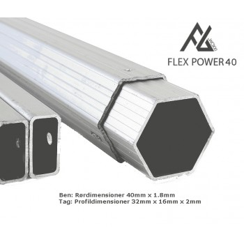 Flex Power 40 4x4m med sider