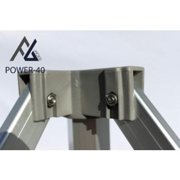 Woxxi POWER-40 Rød 4x8 m Uden sider-31