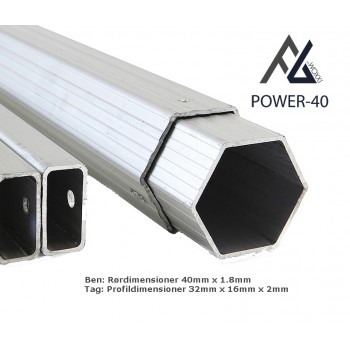 Woxxi POWER-40 Sort 3x3 m m/4 sider-31