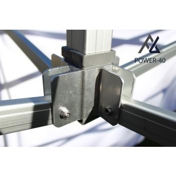 Woxxi POWER-40 Sort 4x8 m Uden sider-31