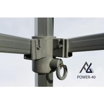 Woxxi POWER-40 Sort 3x4,5 m Uden sider-31