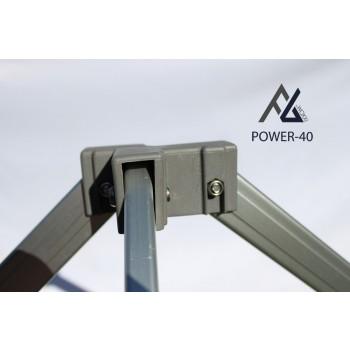 Woxxi POWER-40 Sort 4x6 m Uden sider-31