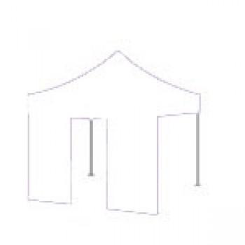 Dørside Woxxi Power / Compact-Hvid-4 meter pløkker, foldetelt tilbehør, vægte til telt-31