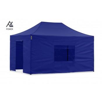 Woxxi POWER-50 Blå 3x4,5 m m/4 sider Racingtelt, pit telt, rally telt, gokart telt-31
