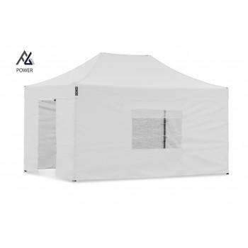 Woxxi POWER-40 Hvid 3x4,5 m m/4 sider Racingtelt, pit telt, rally telt, gokart telt-31