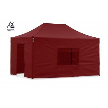Woxxi POWER-40 Rød 3x4,5 m m/4 sider Racingtelt, pit telt, rally telt, gokart telt-31