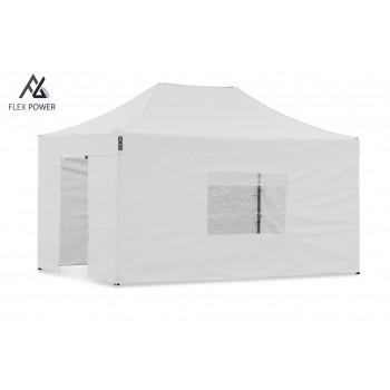 Woxxi POWER-50 Hvid 4x6 m m/4 sider Racingtelt, pit telt, rally telt, gokart telt-31