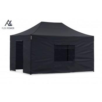 Woxxi POWER-50 Sort 4x6 m m/4 sider Racingtelt, pit telt, rally telt, gokart telt-31