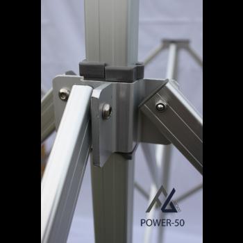 Woxxi POWER-50 Sort 4x8 m Uden sider-31