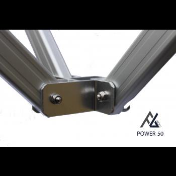 Woxxi POWER-50 Sort 4x6 m Uden sider-31