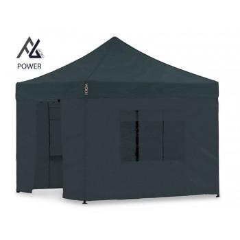 Woxxi POWER-40 Sort 3x3 m m/4 sider Racingtelt, pit telt, rally telt, gokart telt-31