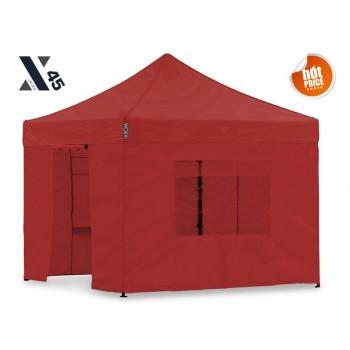 X45 Rød 3x3 meter med sider