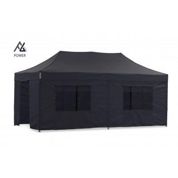 Woxxi POWER-50 Sort 3x6 m m/6 sider Racingtelt, pit telt, rally telt, gokart telt-31