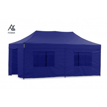 Woxxi POWER-40 Blå 4x8 m m/6 sider Racingtelt, pit telt, rally telt, gokart telt-31