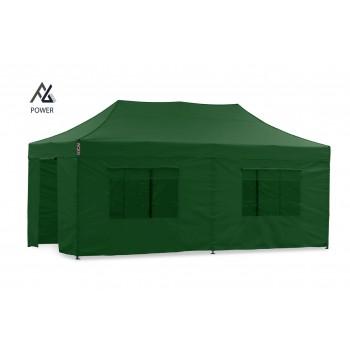 Woxxi POWER-40 Grøn 4x8 m m/6 sider Racingtelt, pit telt, rally telt, gokart telt-31