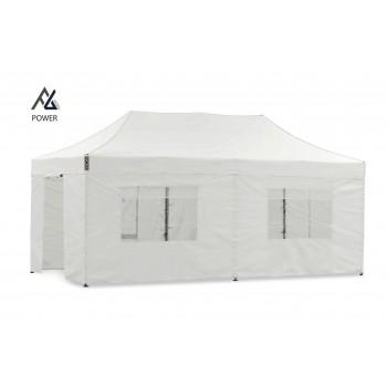 Woxxi POWER-50 Hvid 4x8 m m/6 sider Racingtelt, pit telt, rally telt, gokart telt-31