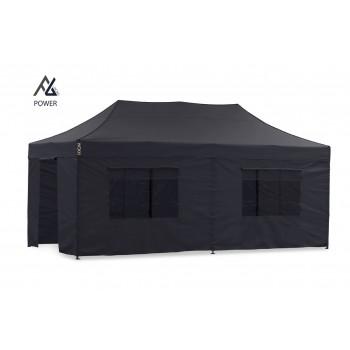 Woxxi POWER-40 Sort 4x8 m m/6 sider Racingtelt, pit telt, rally telt, gokart telt-31