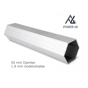 Woxxi POWER-50 Hvid 4x8 m m/6 sider-31