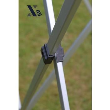 X45 Sort 3x3 meter med sider