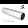Woxxi POWER-50 Rød 3x6 m Uden sider-01